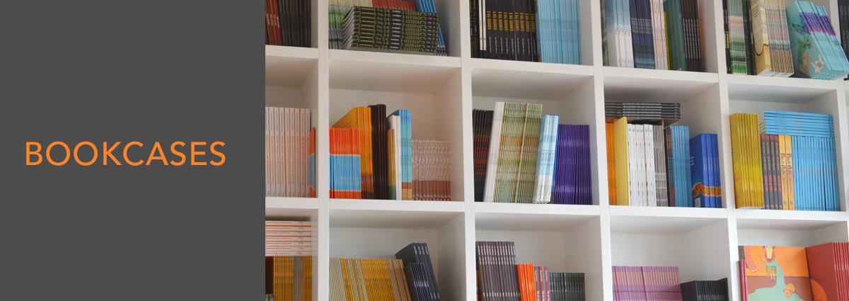 WL dept banner bookcases