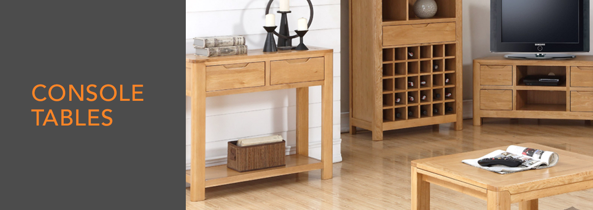 WL dept banner console tables