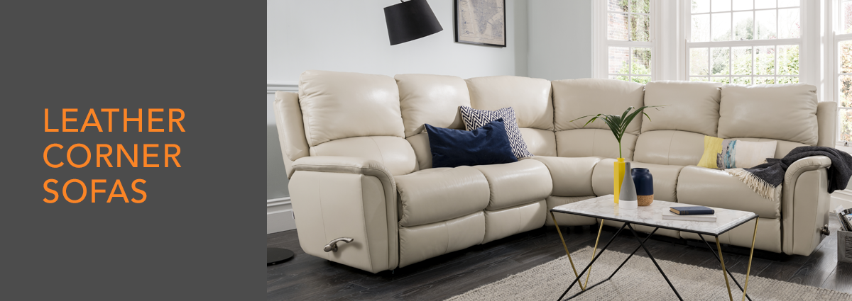 WL dept banner leather corner sofas