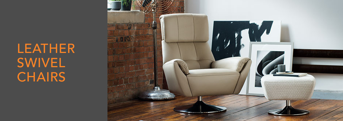 WL dept banner leather swivel chairs